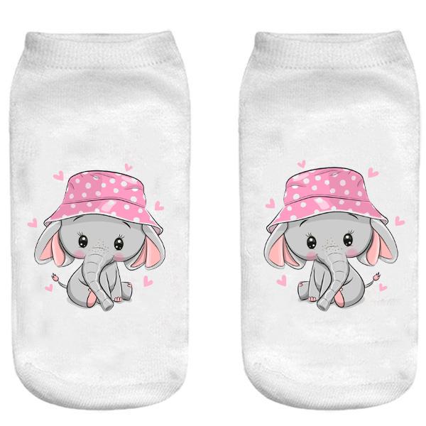 جوراب بچگانه طرح فیل کوچولو کد o30