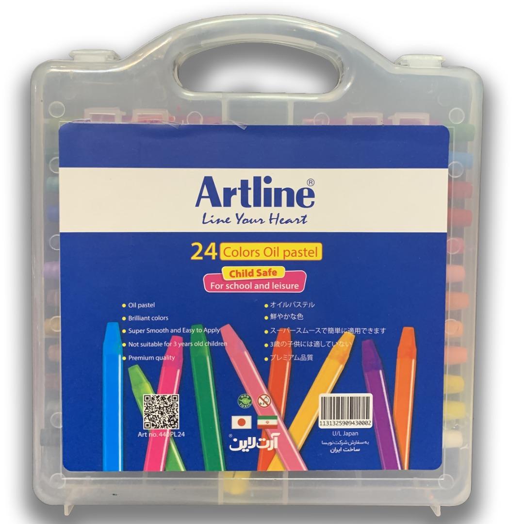 قیمت خرید پاستل روغنی 24 رنگ آرت لاین مدل 440 PL اورجینال