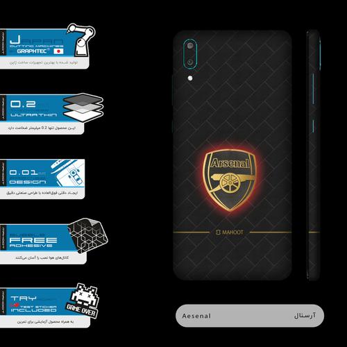 برچسب پوششی ماهوت مدل Arsenal-FC-FullSkin  مناسب برای گوشی موبایل هوآوی Y7 Pro 2019