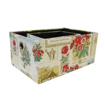 جعبه ارگانایزر هوم اند لایف مدل مارین طرح گل و پروانهمجموعه 2 عددی