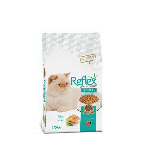 غذای خشک گربه رفلکس مدل sterilisrd مقدار 15 کیلوگرم