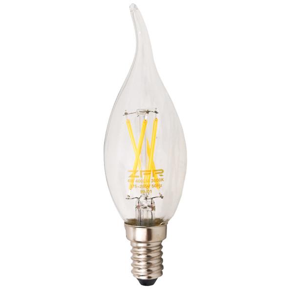 لامپ ال ای دی 4 وات زد اف ار مدل اشکی پایه E14