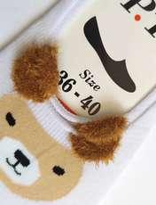 جوراب زنانه پی.تی طرح خرس کد J016 -  - 2