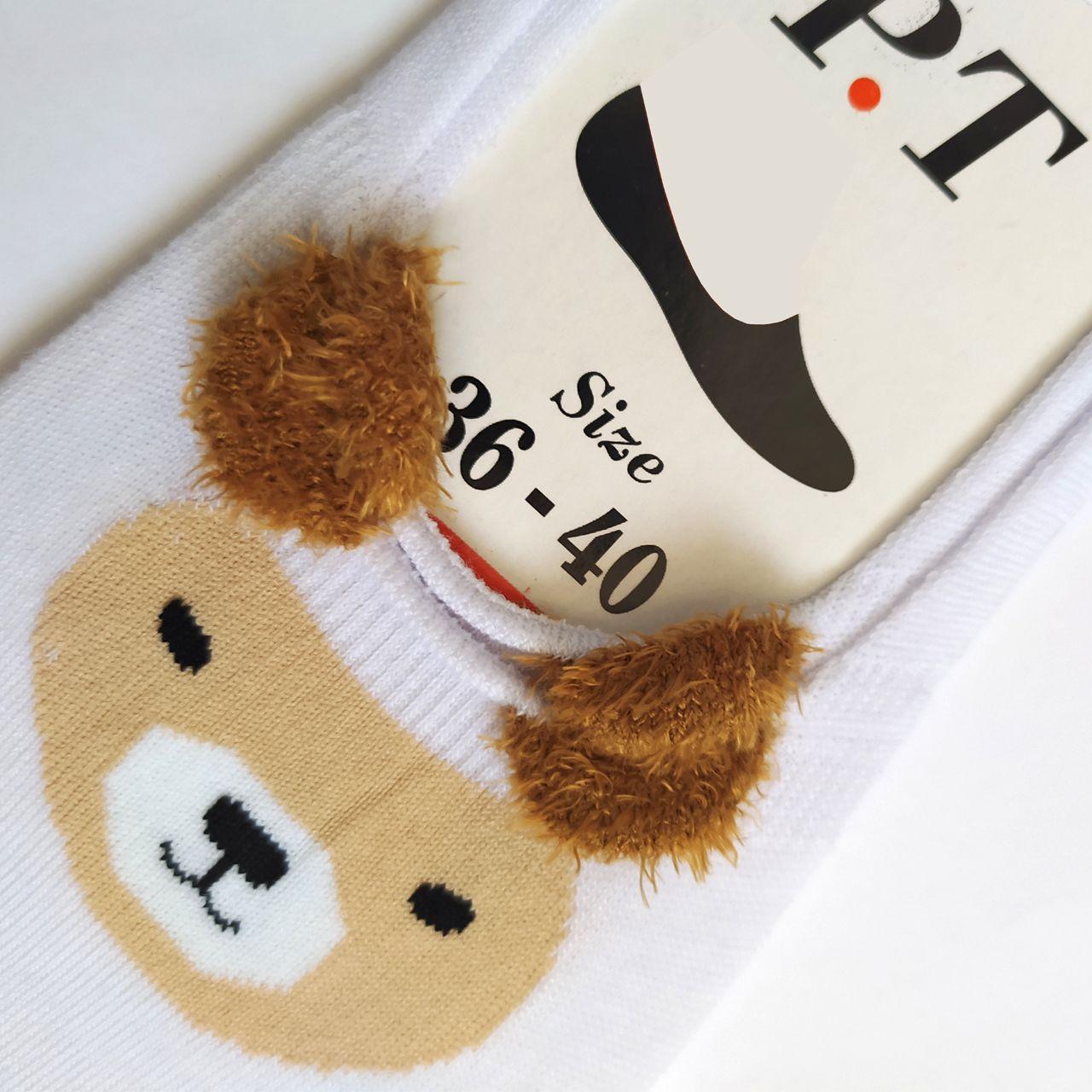 جوراب زنانه پی.تی طرح خرس کد J016 -  - 3