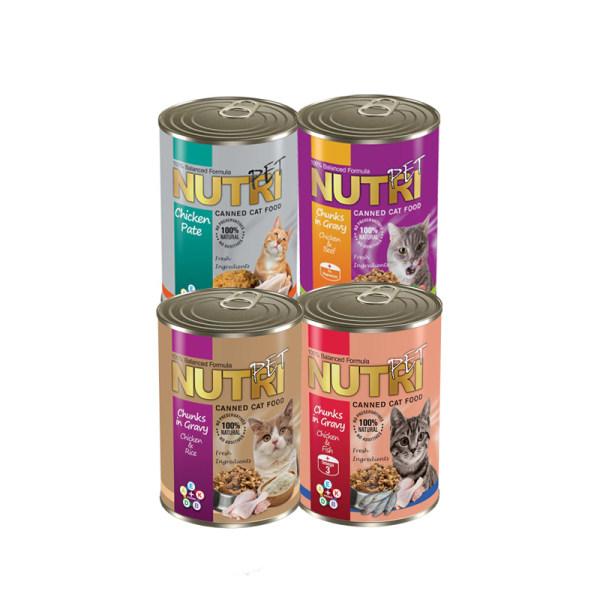 کنسرو غذای گربه نوتری پت مدل میکس مجموعه 4 عددی