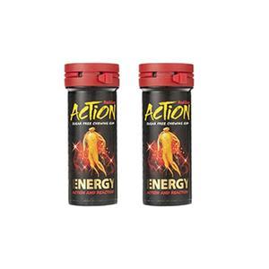 آدامس دراژه بدون شکر انرژی زا اکشن مقدار 38 گرم بسته ۲ عددی