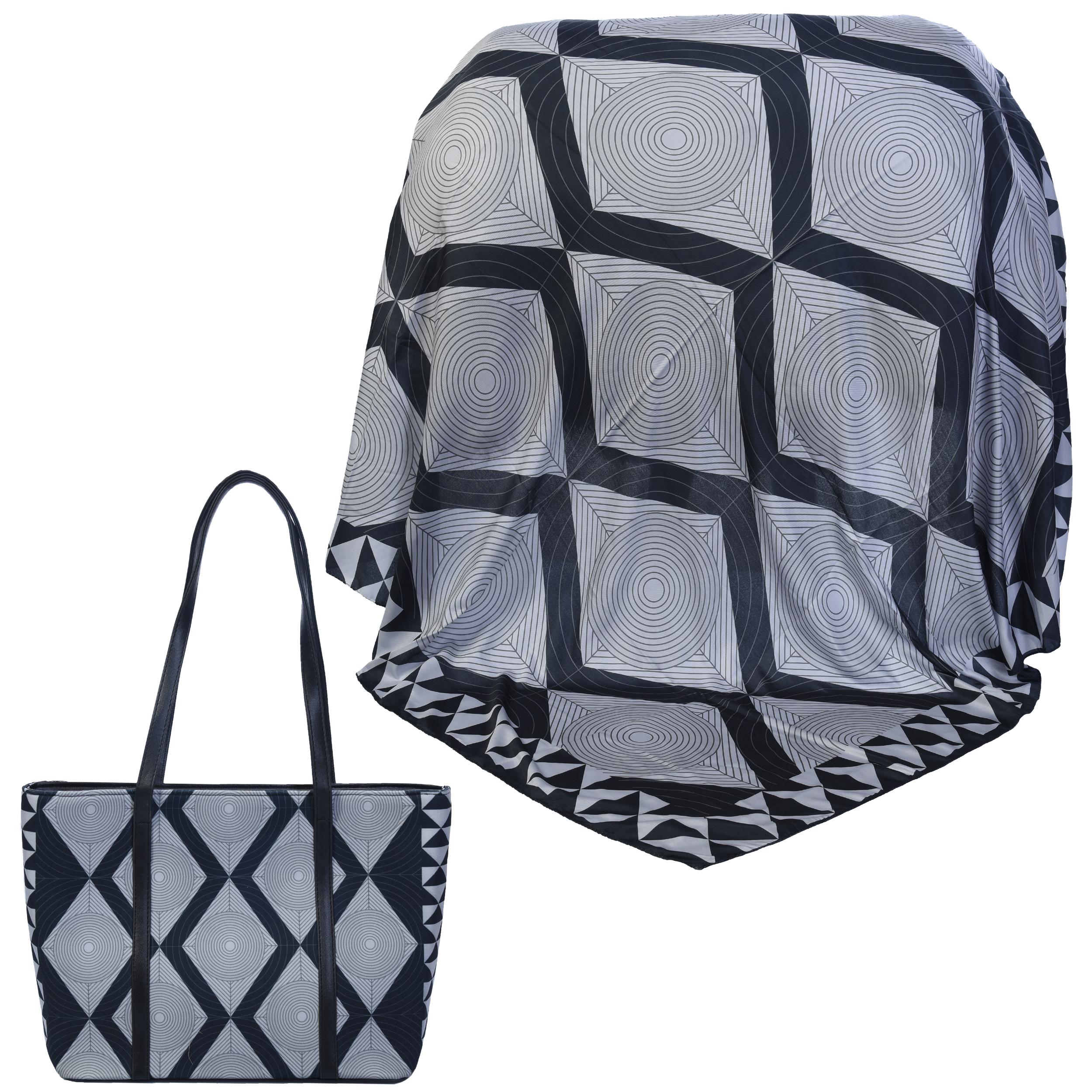 ست کیف و روسری زنانه کد 990105-T1