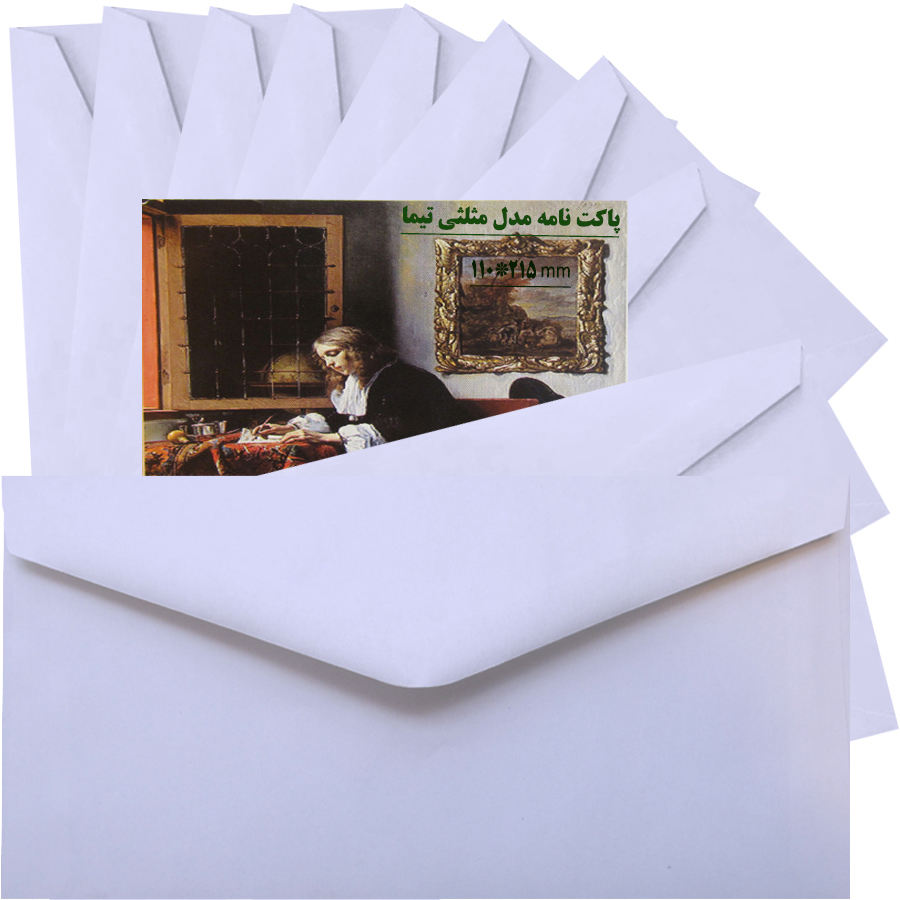 پاکت نامه تیما مدل مثلث بسته 10 عددی