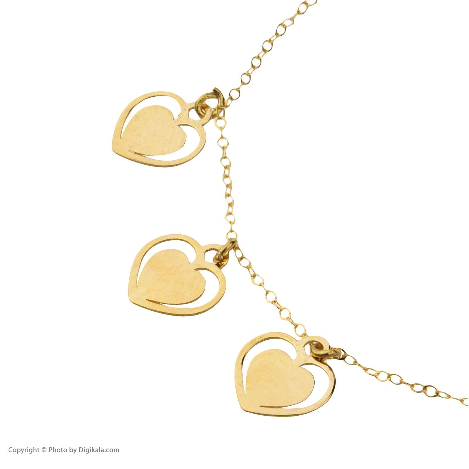 دستبند طلا 18 عیار زنانه میو گلد مدل GD605 -  - 6