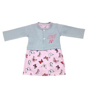 ست کت و پیراهن نوزادی مدل پروانه کد 3314