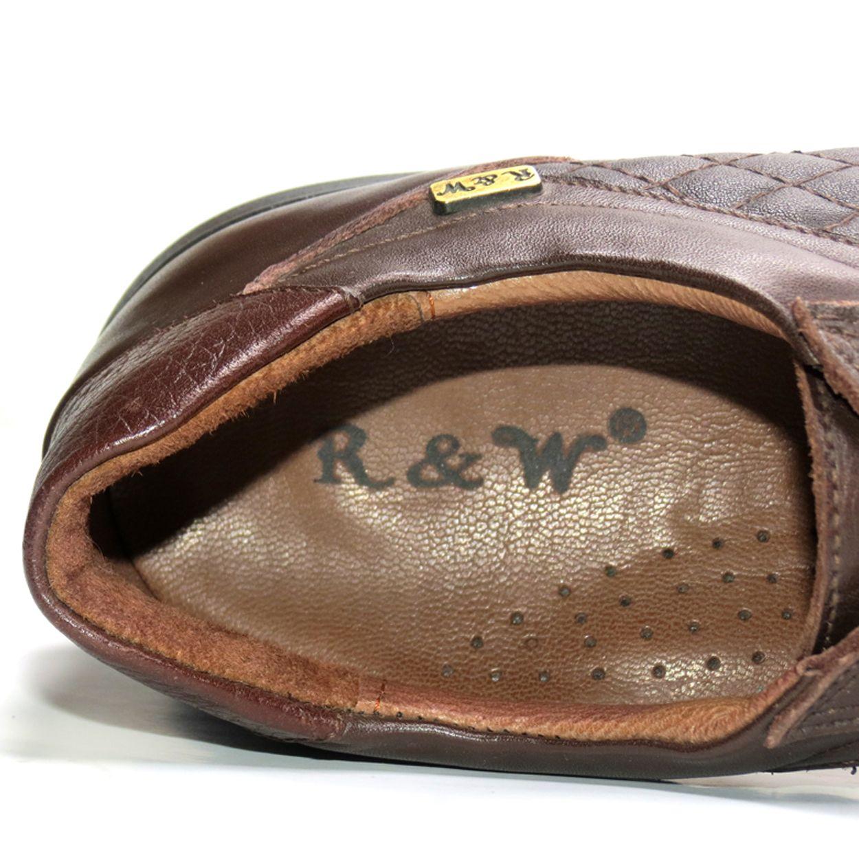 کفش روزمره زنانه آر اند دبلیو مدل 761 رنگ قهوه ای -  - 9