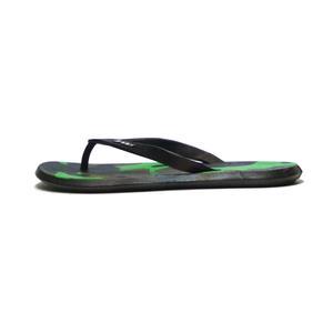 دمپایی لاانگشتی پسرانه مدل پلنگی رنگ سبز