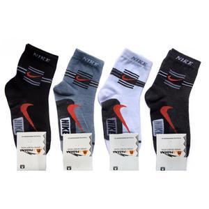 جوراب ورزشی مردانه کد 3519289 مجموعه 4 عددی