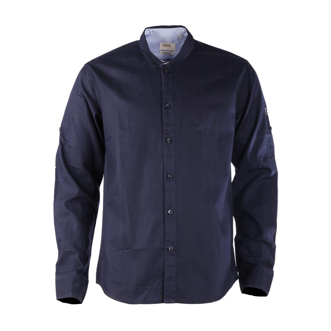 پیراهن آستین بلند مردانه کمل مدل SMN-2020-019