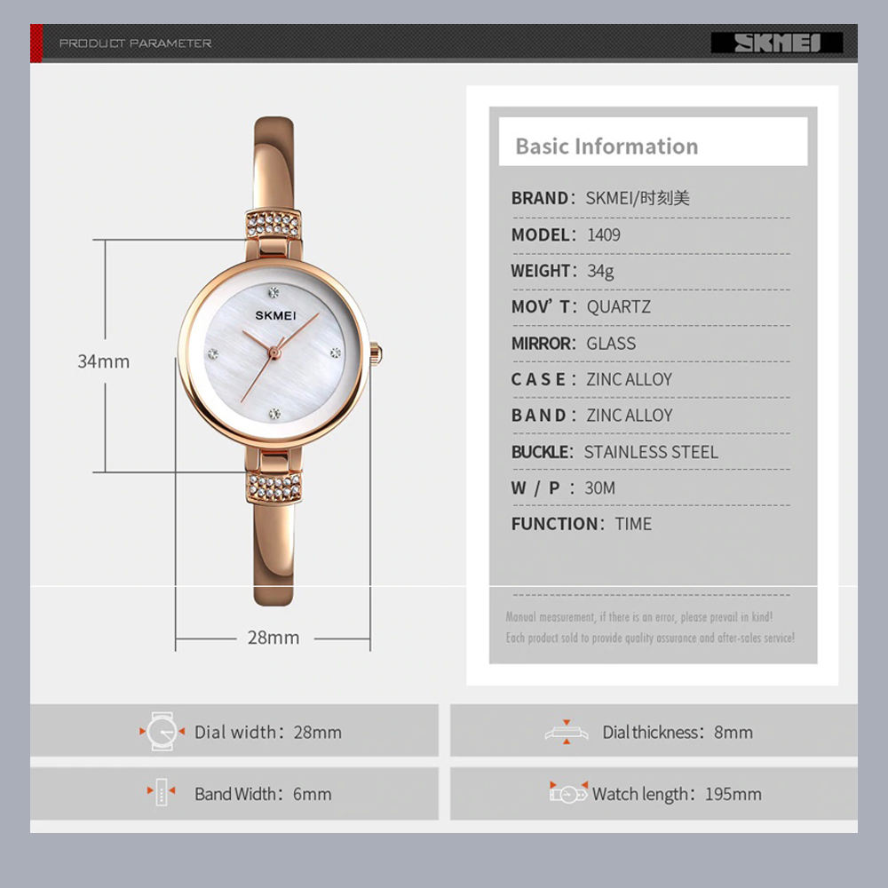 ساعت مچی عقربه ای زنانه اسکمی مدل 1409RG-NP -  - 6