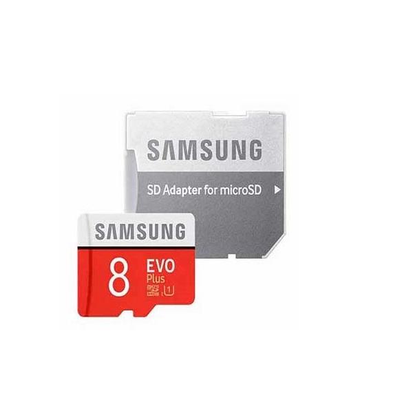 کارت حافظه microSDHC مدل Evo Plus کلاس 10 استاندارد UHS-I U1 سرعت 80MBps ظرفیتSD 8 گیگابایت  به همراه آداپتور SD                     غیر اصل