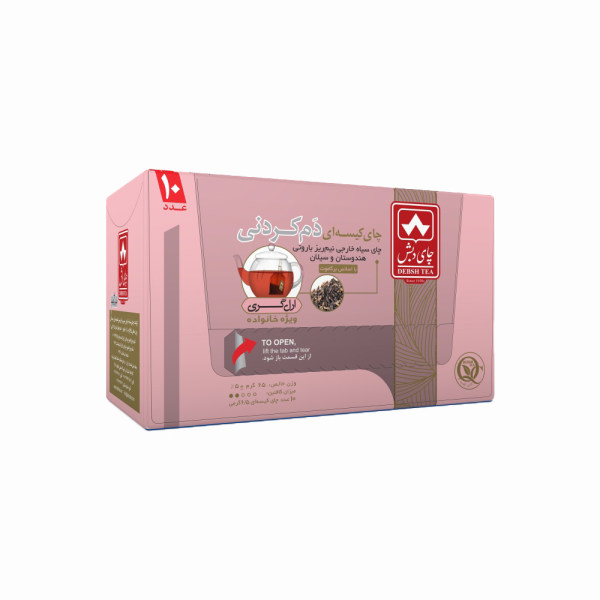چای کیسه ای دم کردنی ارل گری چای دبش بسته 10 عددی