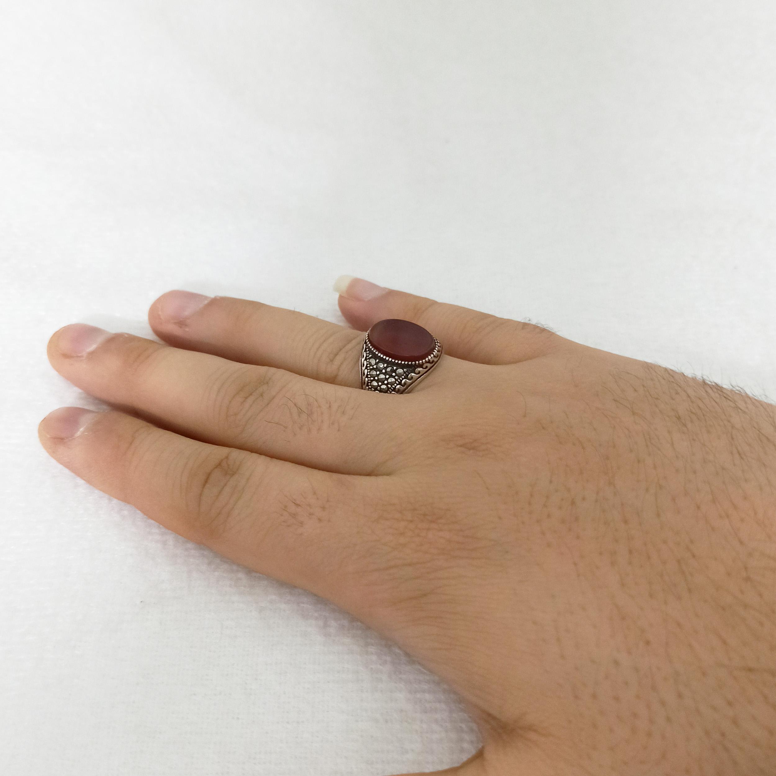 انگشتر نقره مردانه سلین کالا مدل ce-aqanma10