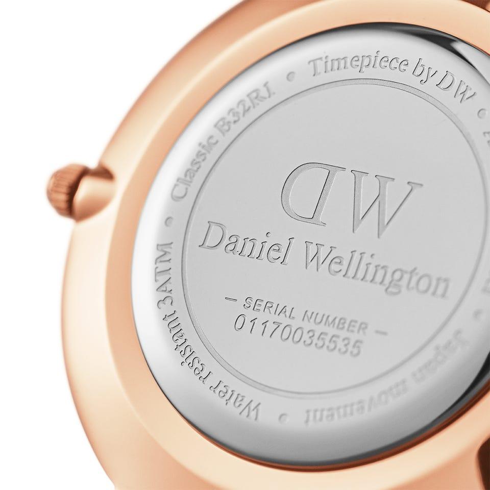 ساعت مچی  زنانه دنیل ولینگتون مدل dw00100311_classic_petite_dover_w32rg