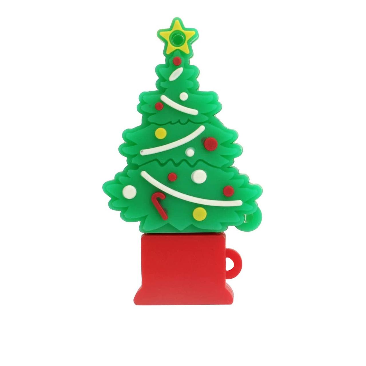 بررسی و خرید [با تخفیف]                                     فلش مموری طرح درخت کریسمس مدل DPL1013 ظرفیت 128 گیگابایت                             اورجینال