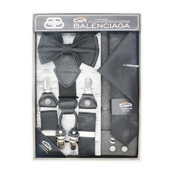 ست ساسبند و کراوات و پاپیون مردانه سی اچ آر مدل MH090BKJ