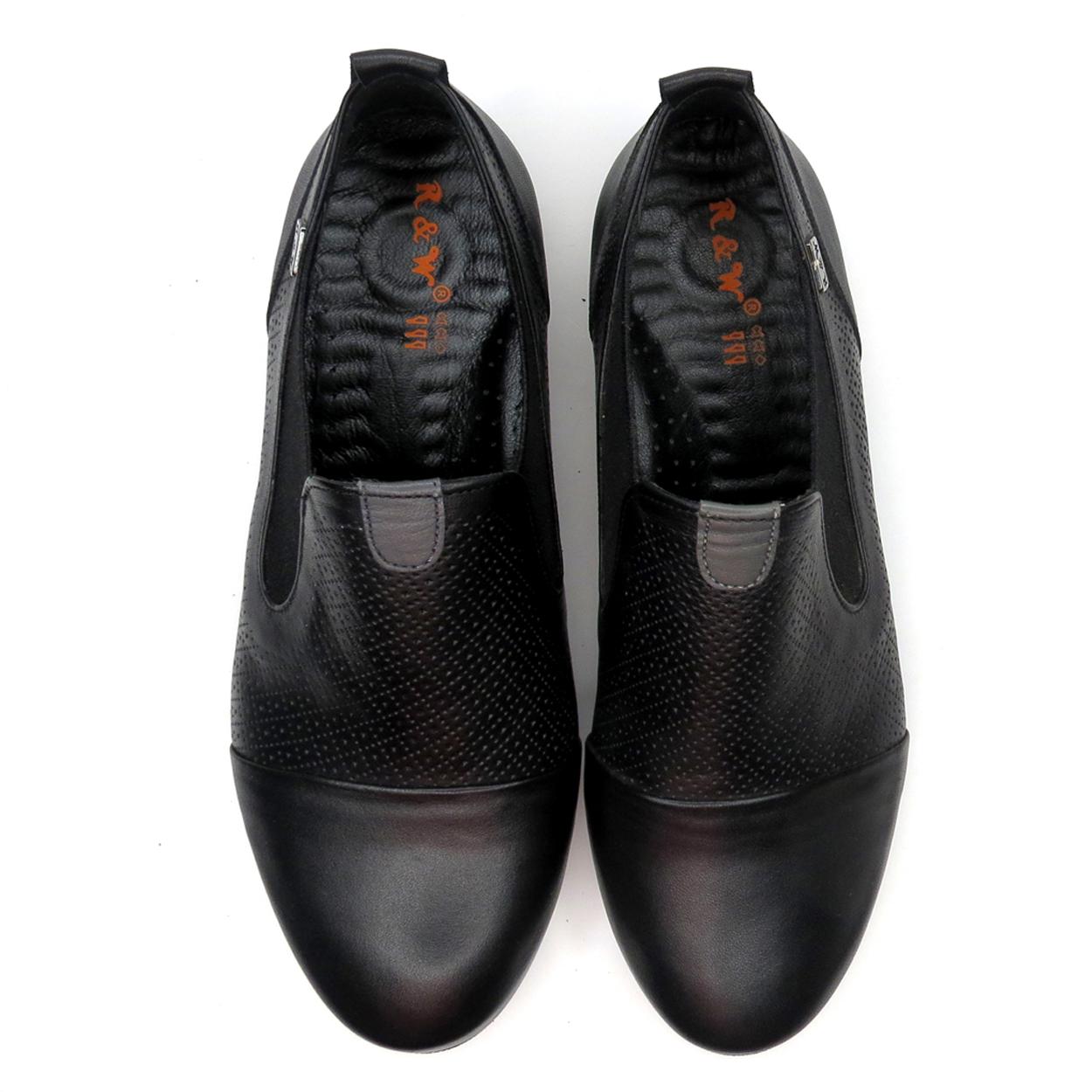 کفش زنانه آر اند دبلیو مدل 611 رنگ مشکی -  - 4