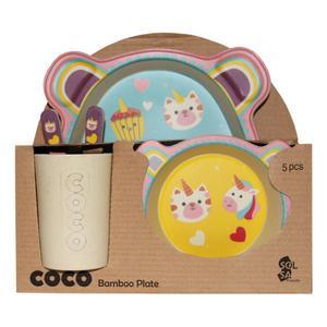 ظرف غذای 5 تکه کودک کوکو طرح Unicorn