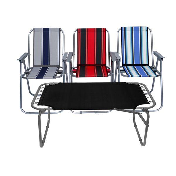 میز و صندلی سفری مدل x4 مجموعه چهار عددی