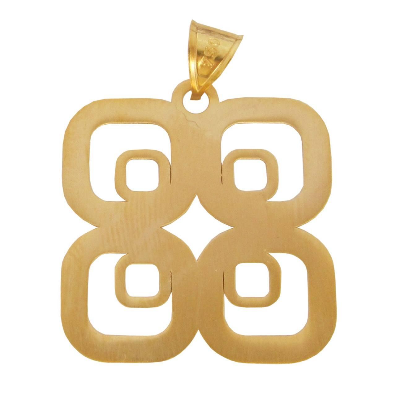 آویز گردنبند طلا 18 عیار زنانه گالری مرجان مدل 1074