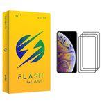 محافظ صفحه نمایش فلش مدل +HD مناسب برای گوشی موبایل اپل iPhone XS Max بسته سه عددی