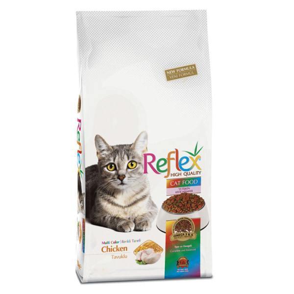 غذای خشک گربه رفلکس مدل مولتی کالر ۳ کیلوگرم