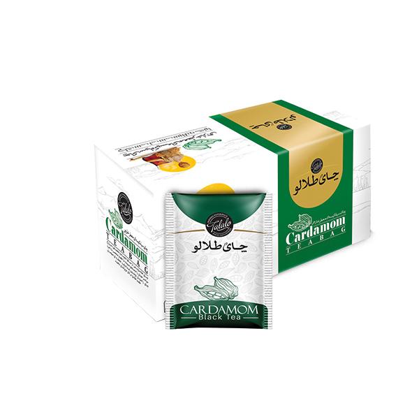 چای کیسه ای با طعم هل صنایع غذایی طلالو بسته 25 عددی