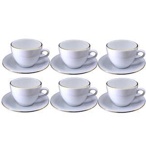 ست فنجان و نعلبکی 12 پارچه مقصود طرح دانمارکی