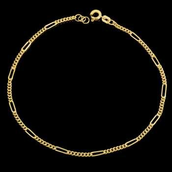 پابند طلا زنانه طلای مستجابی مدل فیگارو کد 67153
