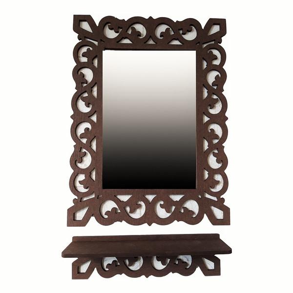 آینه خونه خاص مدل یاقوت به همراه شلف دیواری