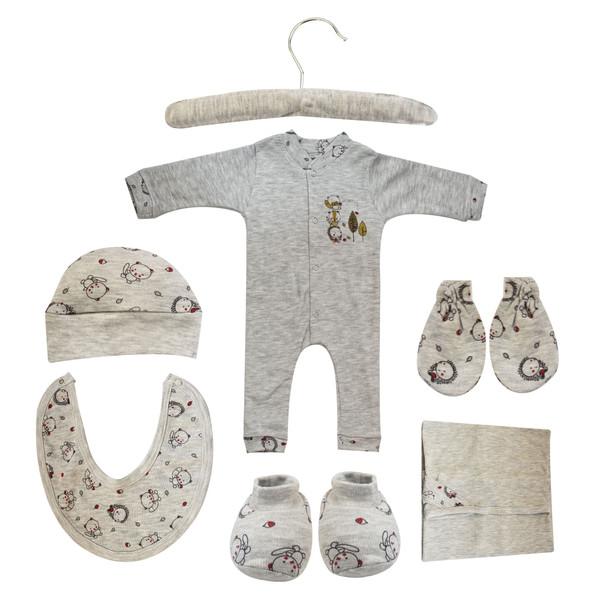 ست 7 تکه لباس نوزادی مادرکر طرح راکون کد M454.3