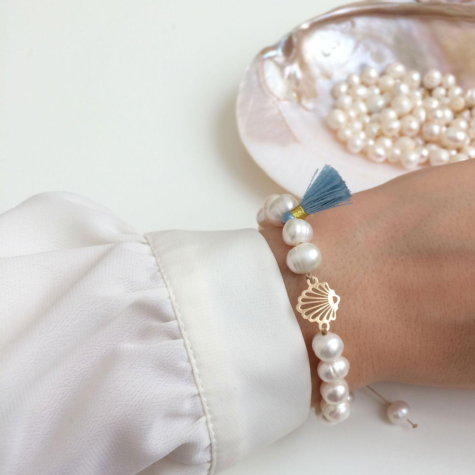 دستبند طلا 18 عیار زنانه الماسین آذر کد SADAF03 -  - 3