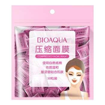 قرص ماسک ورقه ای صورت بایو آکوا مدل F01 بسته 50 عددی