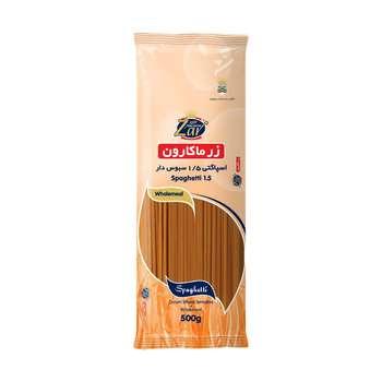 اسپاگتی قطر 1.5 سبوس دار زر ماکارون وزن 500 گرم