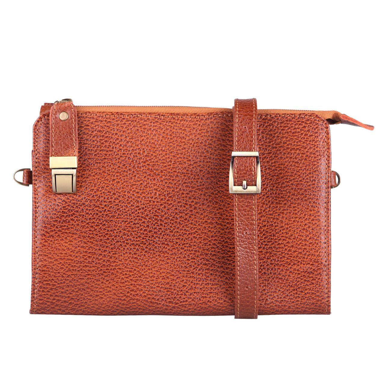 کیف دستی چرم ماکان مدل آیسل کد ICEL-sh1