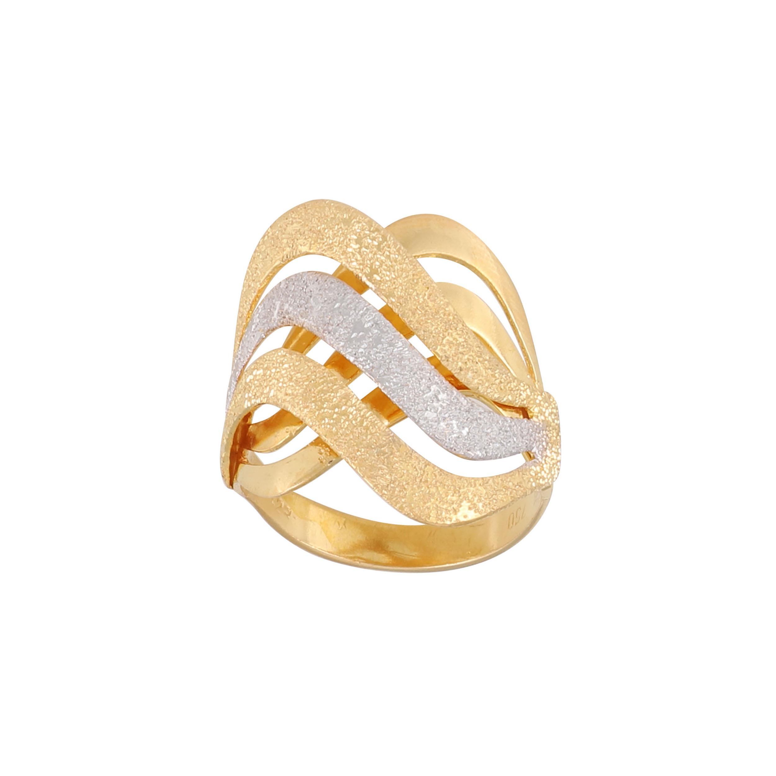 انگشتر طلا 18 عیار زنانه کد G750