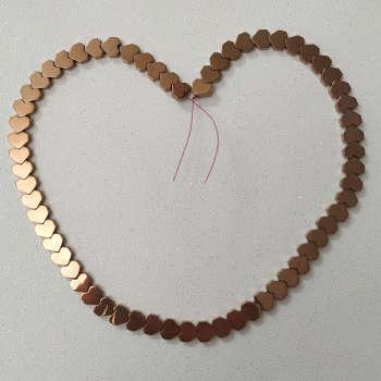ریسه سنگ هماتیت طرح قلب کد HN1525