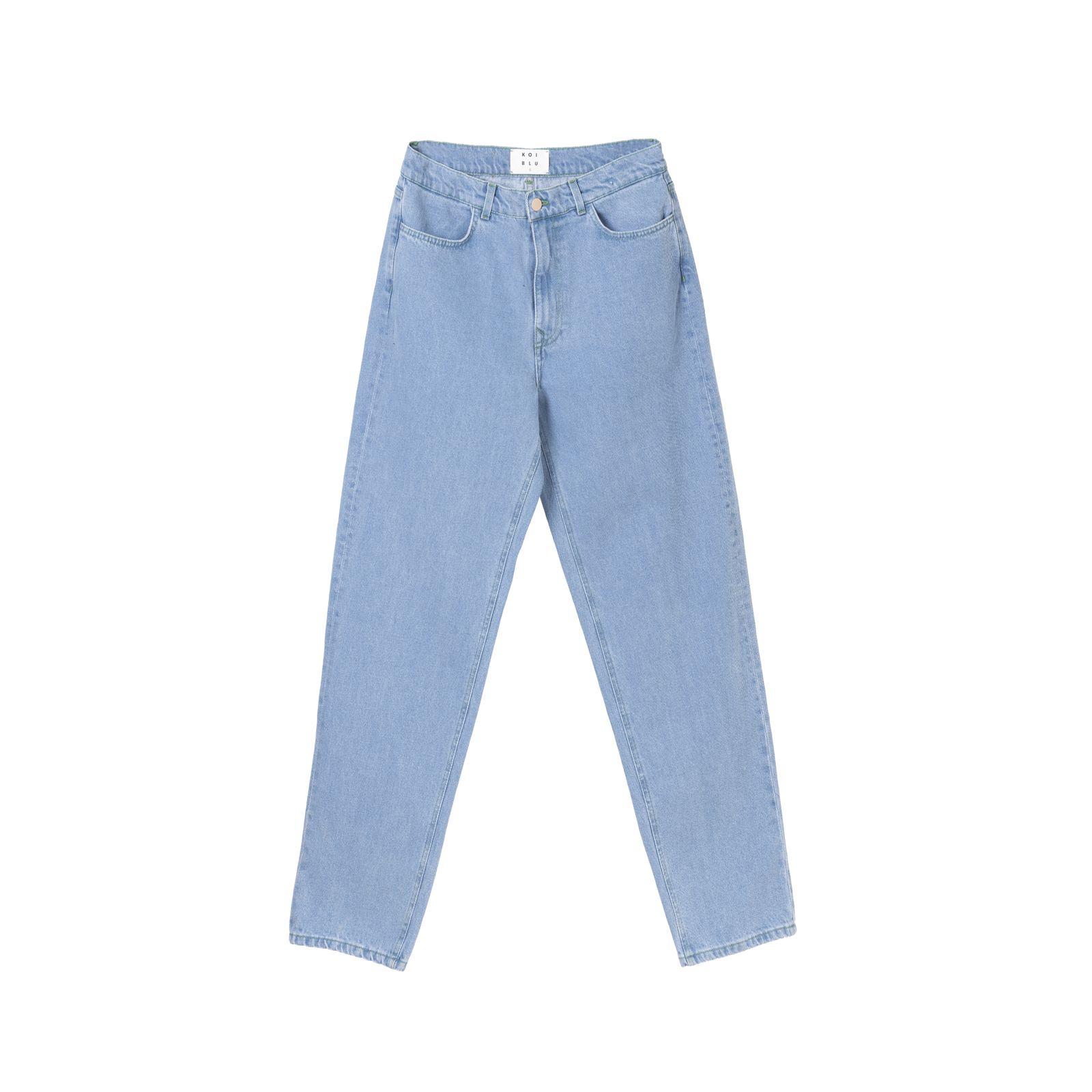 شلوار جین مردانه کوی مدل دایی رنگ آبی روشن -  - 1