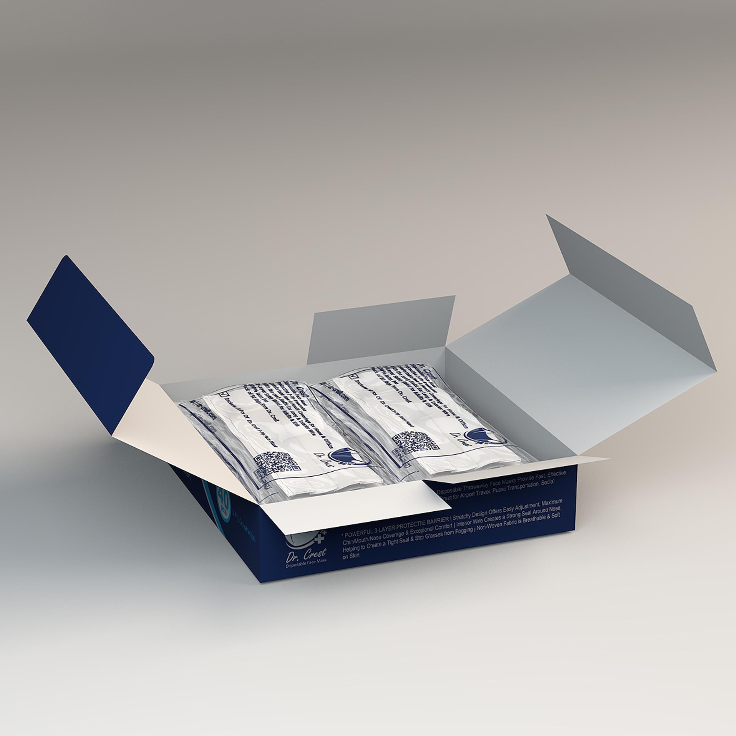 ماسک تنفسی دکتر کرست مدل Dr-G40 بسته 40 عددی