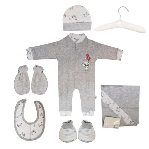 ست 7 تکه لباس نوزادی مادرکر طرح پاندا کد M454.13