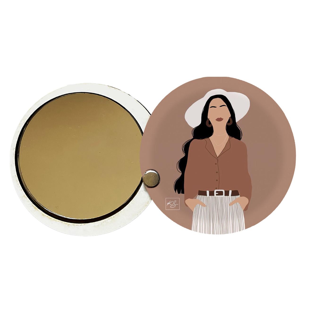 آینه جیبی طرح دخترانه کد ay69