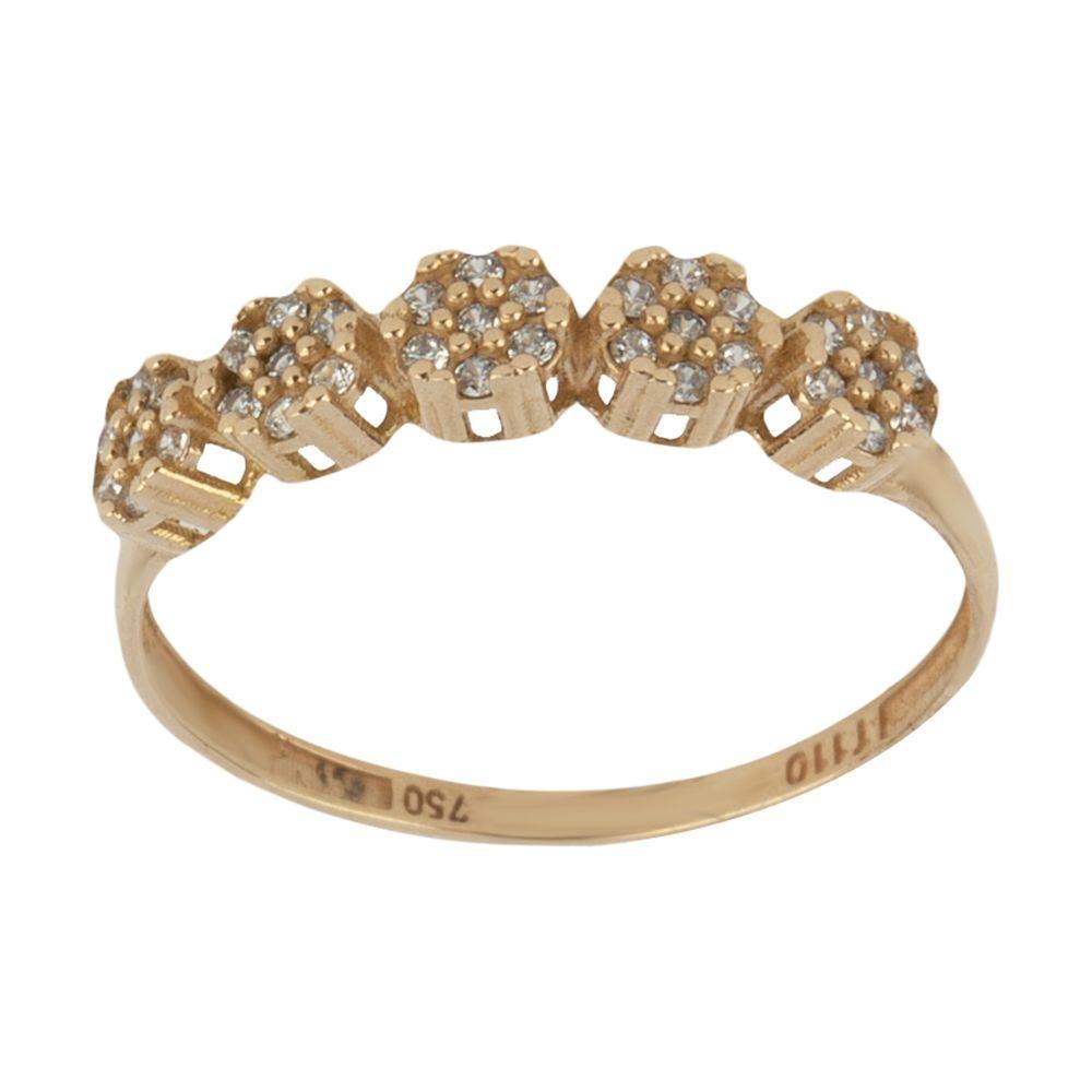 انگشتر طلا 18 عیار زنانه نیوانی مدل NR040