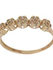 انگشتر طلا 18 عیار زنانه نیوانی مدل NR040 -  - 1