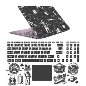 استیکر لپ تاپ صالسو آرت مدل 5083 hk به همراه برچسب حروف فارسی کیبورد
