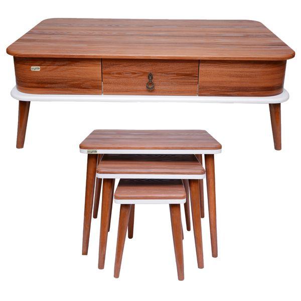 میز پذیرایی باراش مدل کارین مجموعه 4 عددی